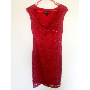 Connected apparel red dress